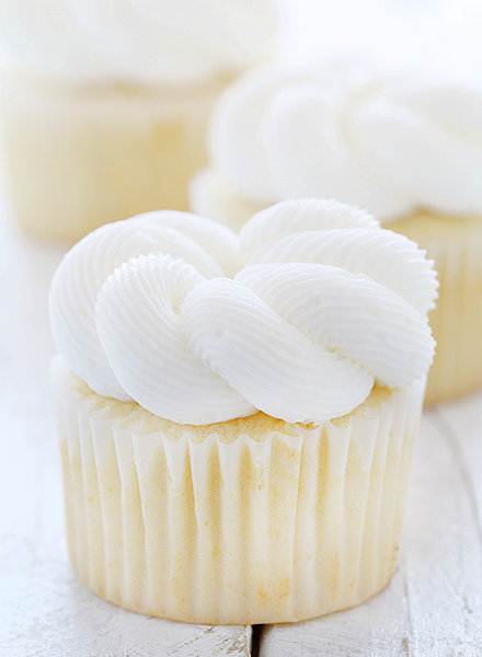Elegant White Cupcake