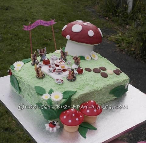 Fairy Tea Party Birthday Cake