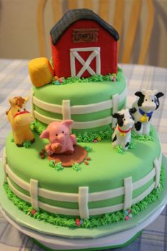 Farm Animal Birthday Cake Decorations