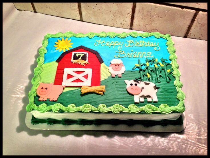 5 Photos of Cakes With Tractors And Barns