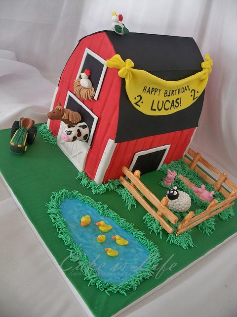 Farm Barn Birthday Cake
