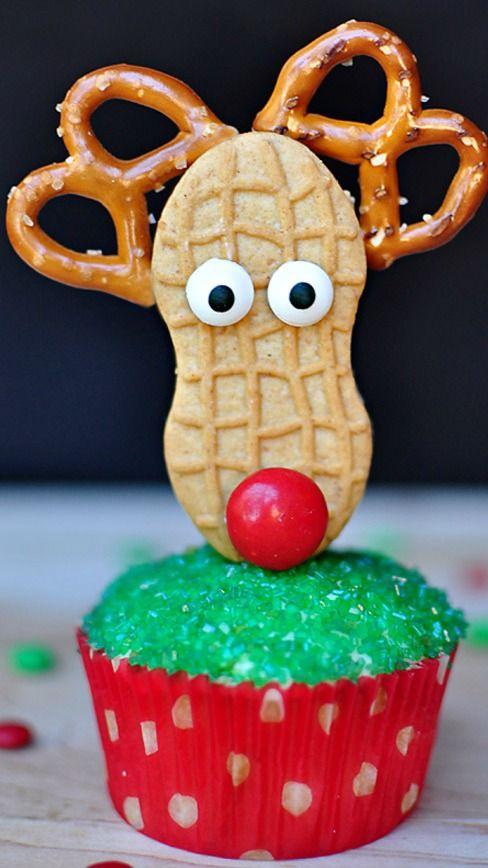 Festive Santa Christmas Cupcake Topper
