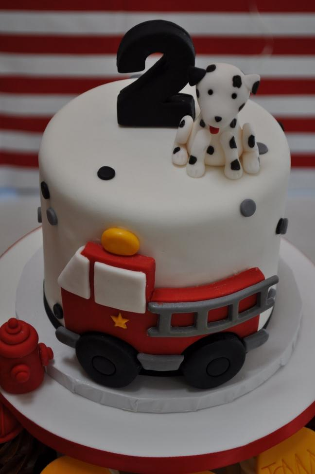 Fire Truck Birthday Party Cake