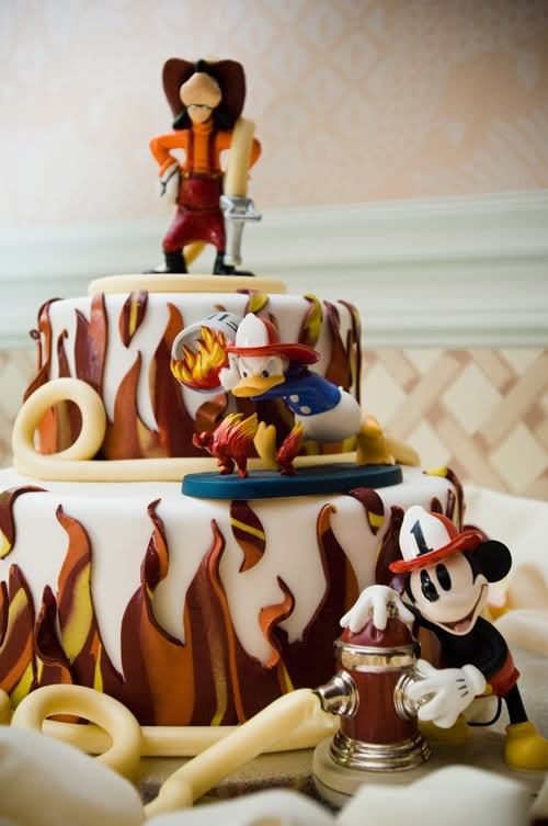 Firefighter Mickey Mouse Cake