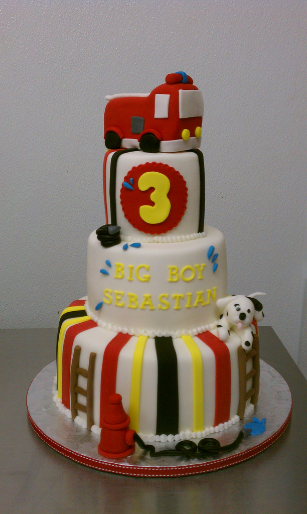 Firefighter Theme Birthday Cake