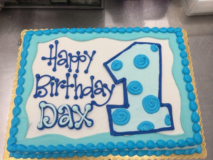 First Birthday Sheet Cake