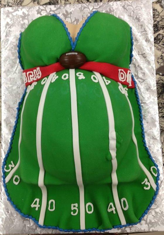 Football Theme Baby Shower Cake