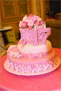 Girls 17th Birthday Cake Ideas