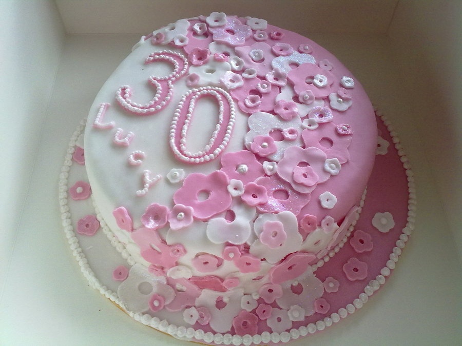 Girly 30th Birthday Cake