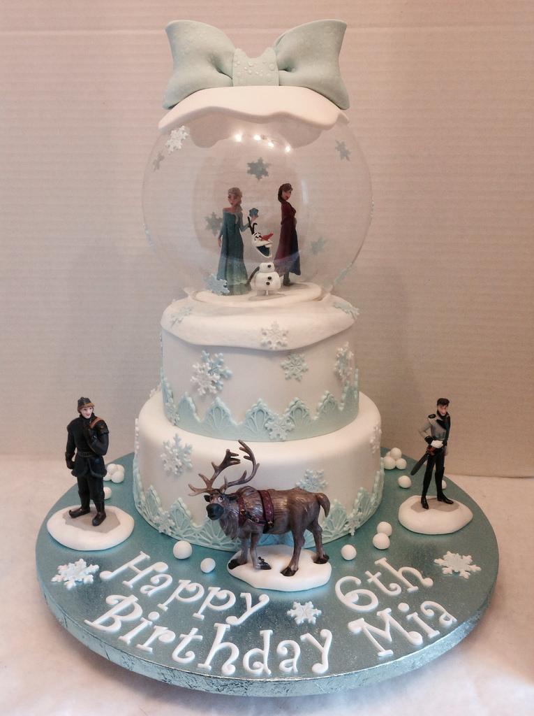 Globe Birthday Cake Frozen