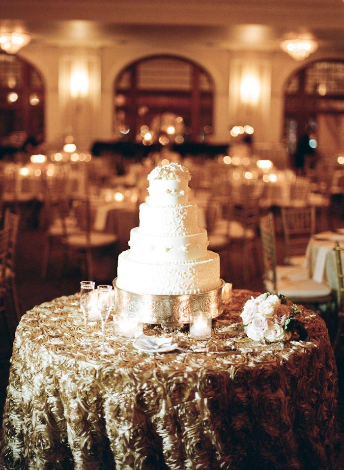 Gold Wedding Cake Table