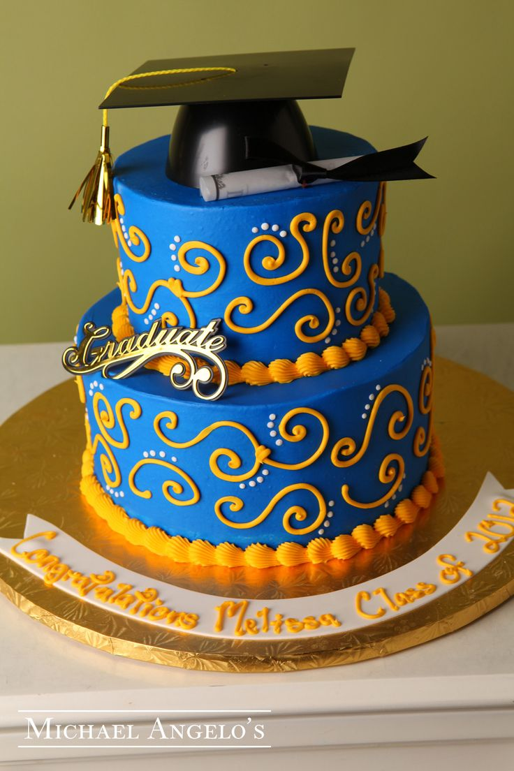Graduation Cakes with Gold