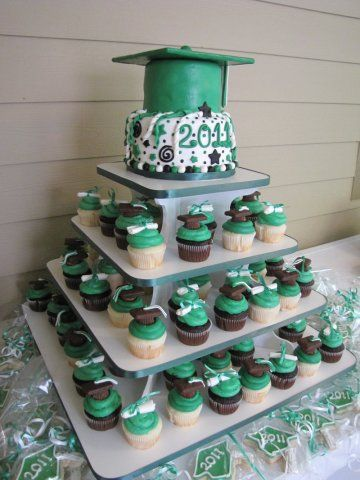 Graduation Party Cupcake Stand
