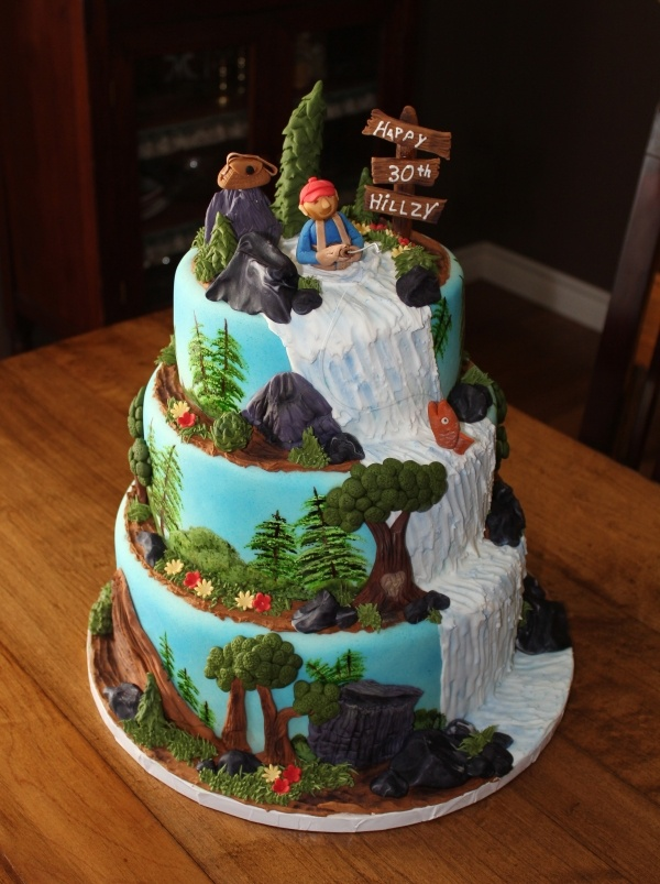 Great Outdoors Birthday Cake