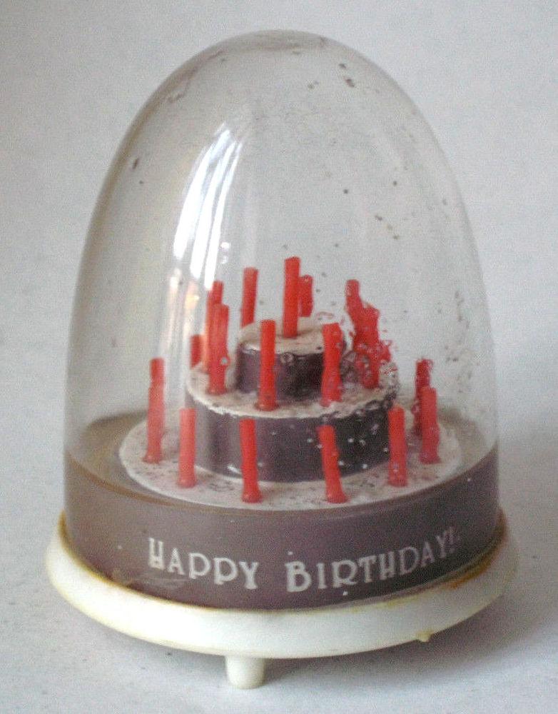 Happy Birthday Snow Globe Cake
