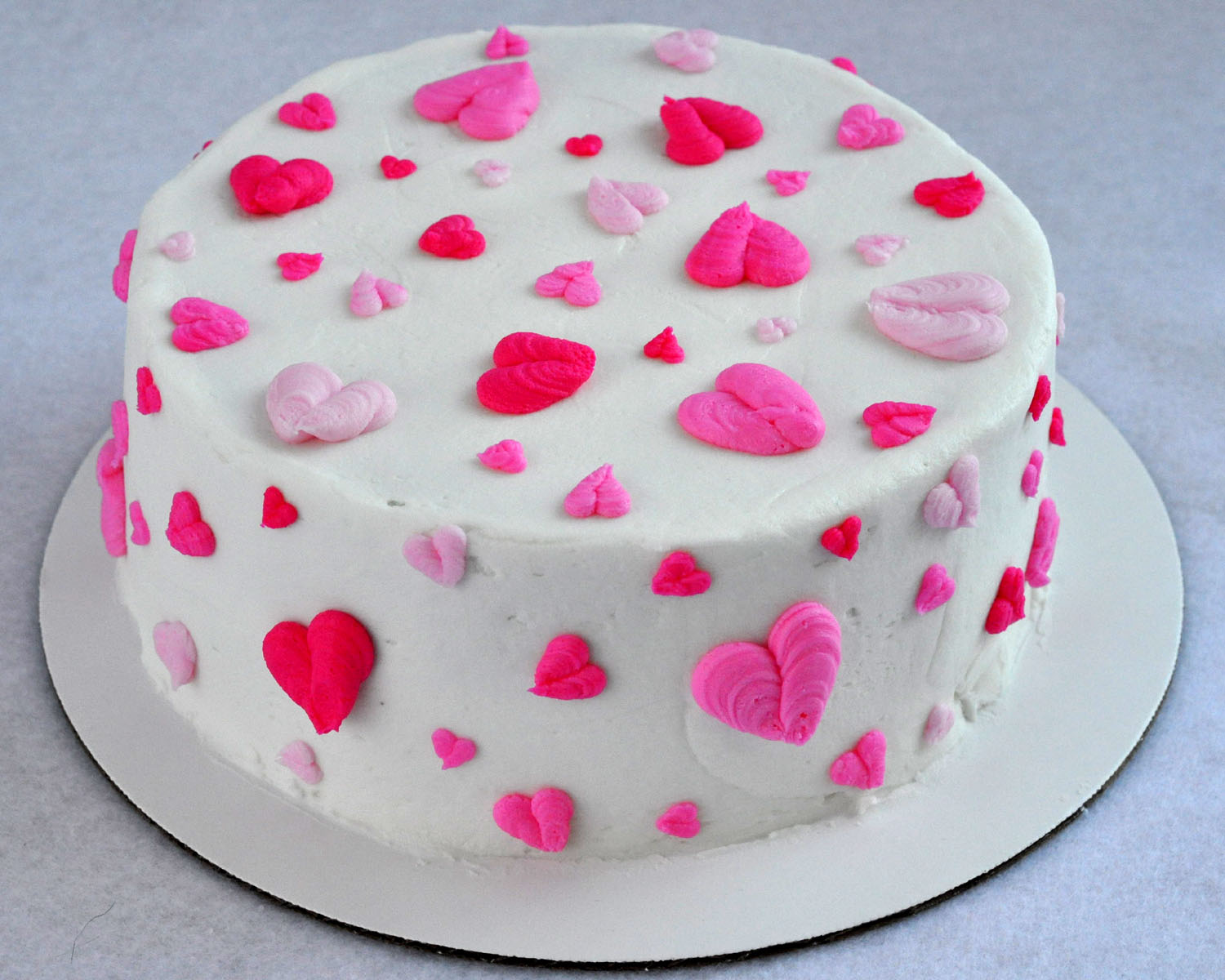 Heart Valentine Cakes Ideas Buttercream