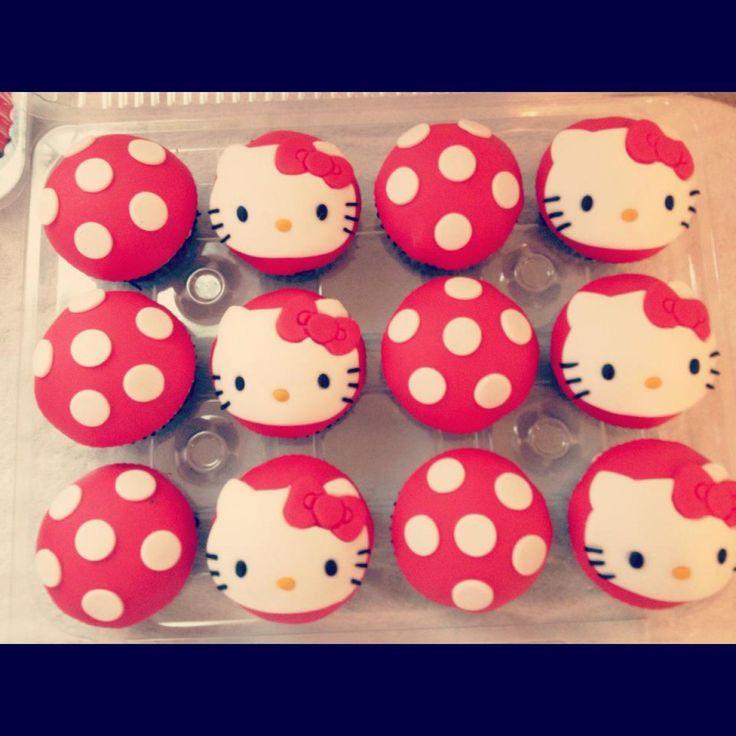 Hello Kitty Cupcake Cake Ideas