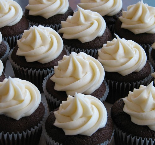 Icing Cupcakes with Piping Bag