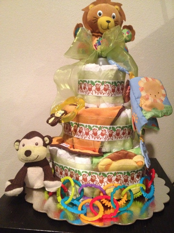Jungle Safari Diaper Cake