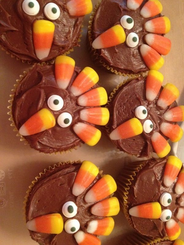 8 Photos of Pinterest Thanksgiving Turkey Cupcakes
