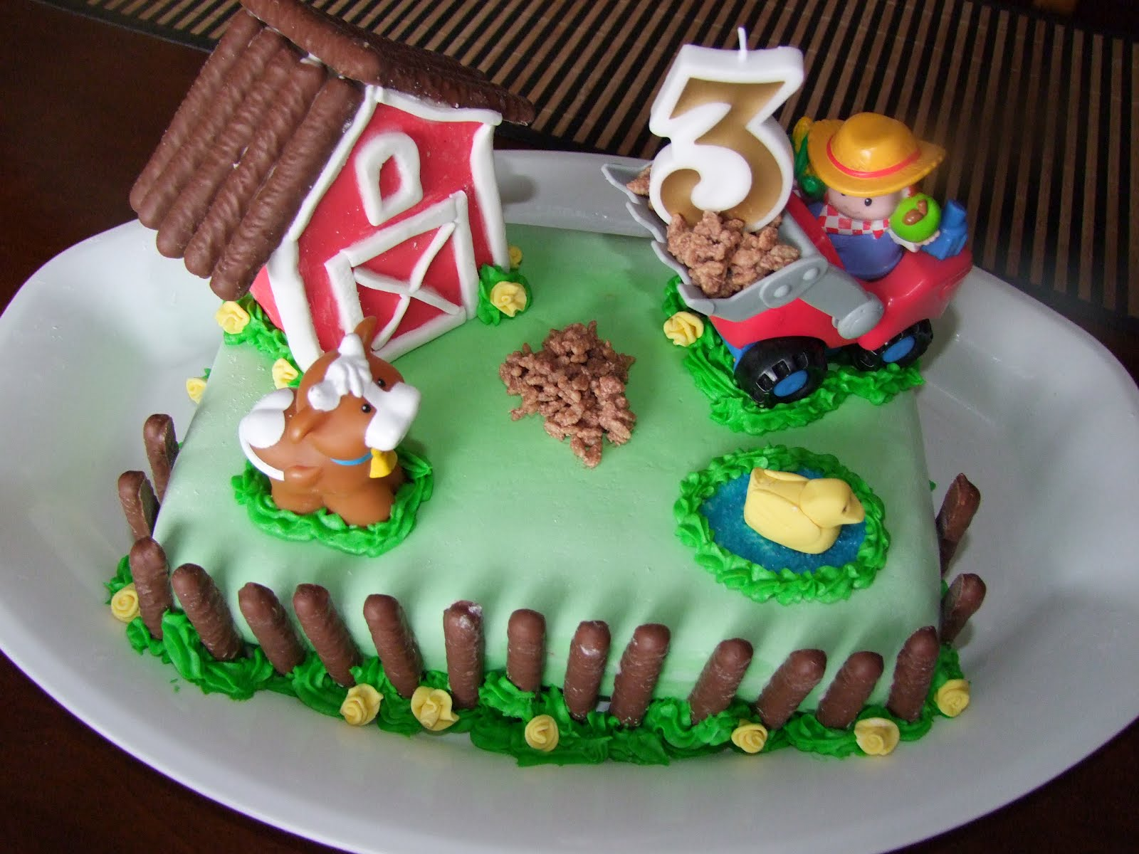 Kids Farm Birthday Cake