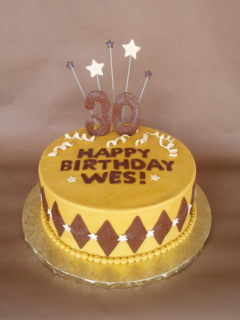 Masculine 30th Birthday Cake