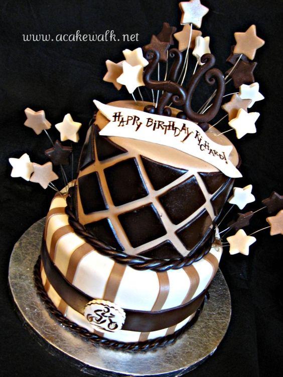 Masculine 40th Birthday Cake