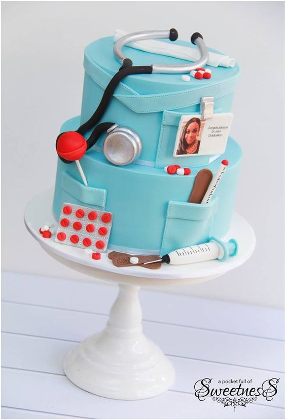 Medical Doctor Graduation Cake
