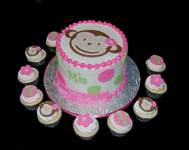 Monkey Birthday Cakes and Cupcakes