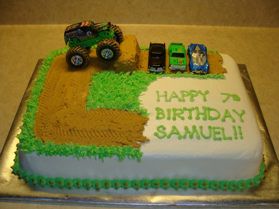 Monster Truck Birthday Cake