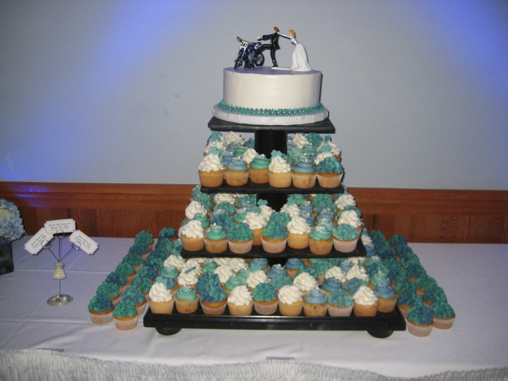 Motorcycle Cupcake Wedding Cakes