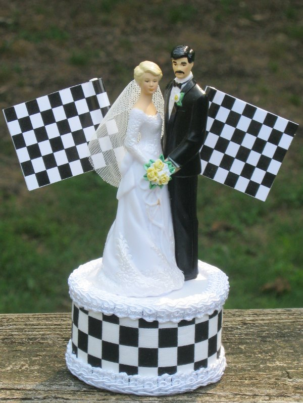NASCAR Wedding Cake Topper