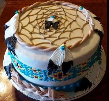 Native American Birthday Cake