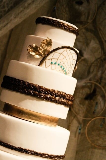 Native American Themed Wedding Cake
