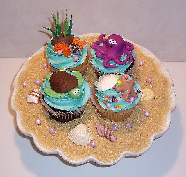 Ocean Theme Cupcakes