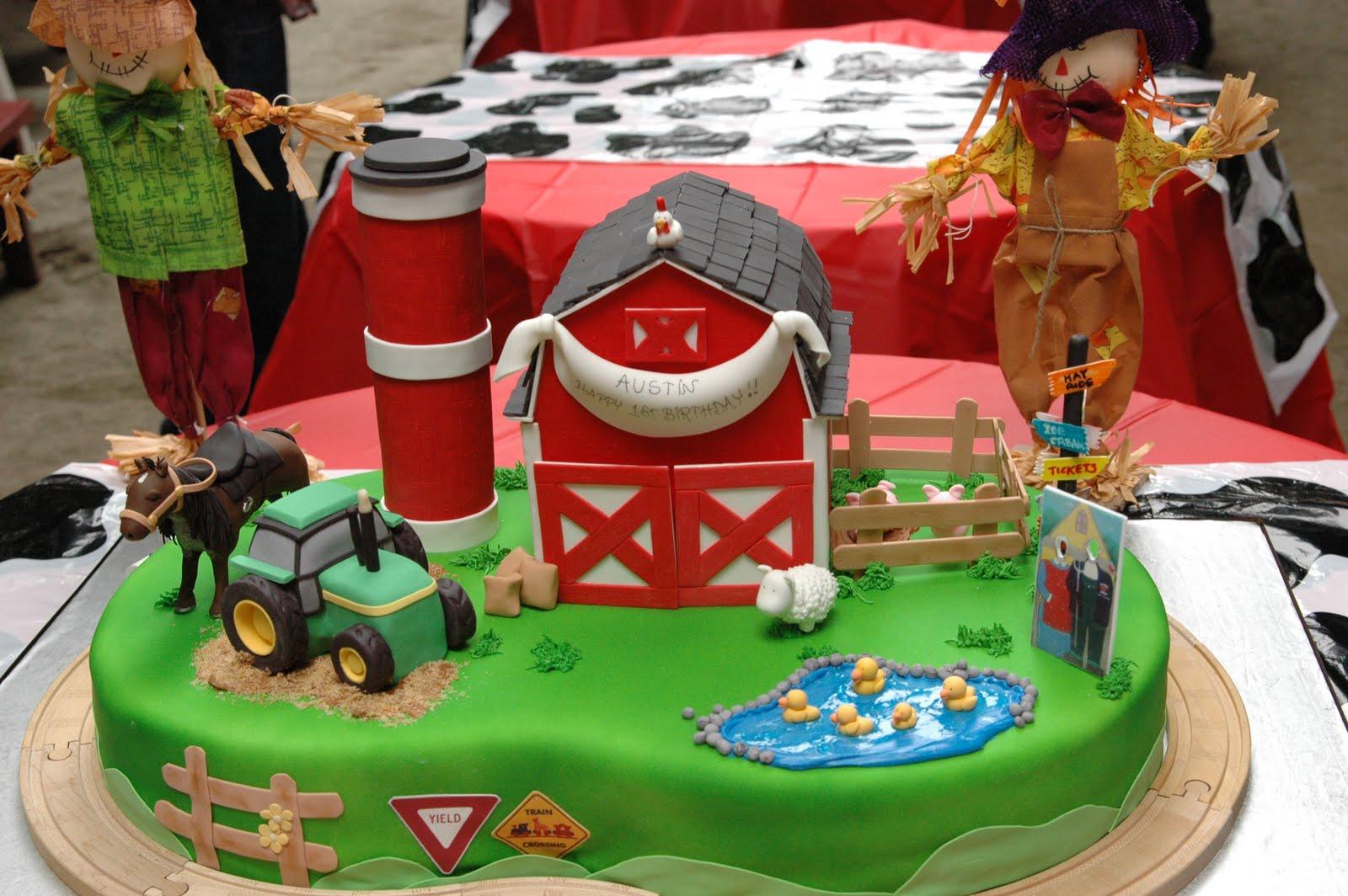 Old MacDonald Had a Farm Birthday Cake