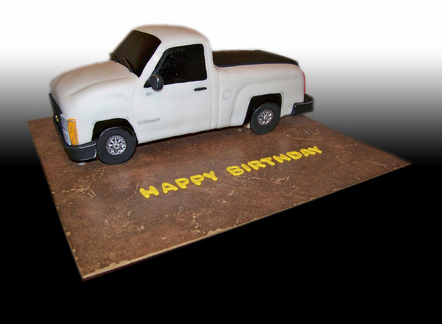 11 Photos of Pickup Truck Cakes For Boys