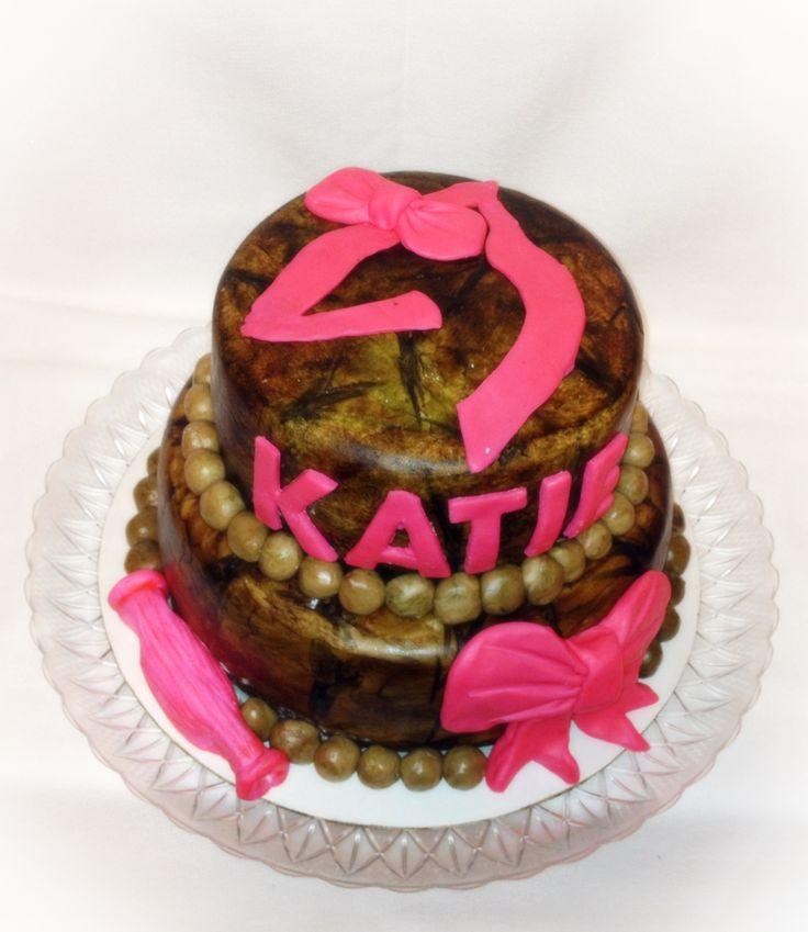 Pink Camo Browning Cake