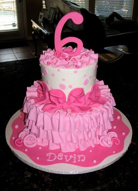 Pink Girly Birthday Cake