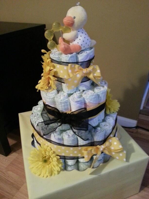 Pinterest DIY Diaper Cake