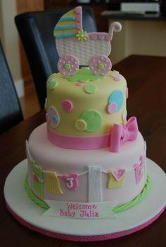 Pinterest Girl Baby Shower Cakes