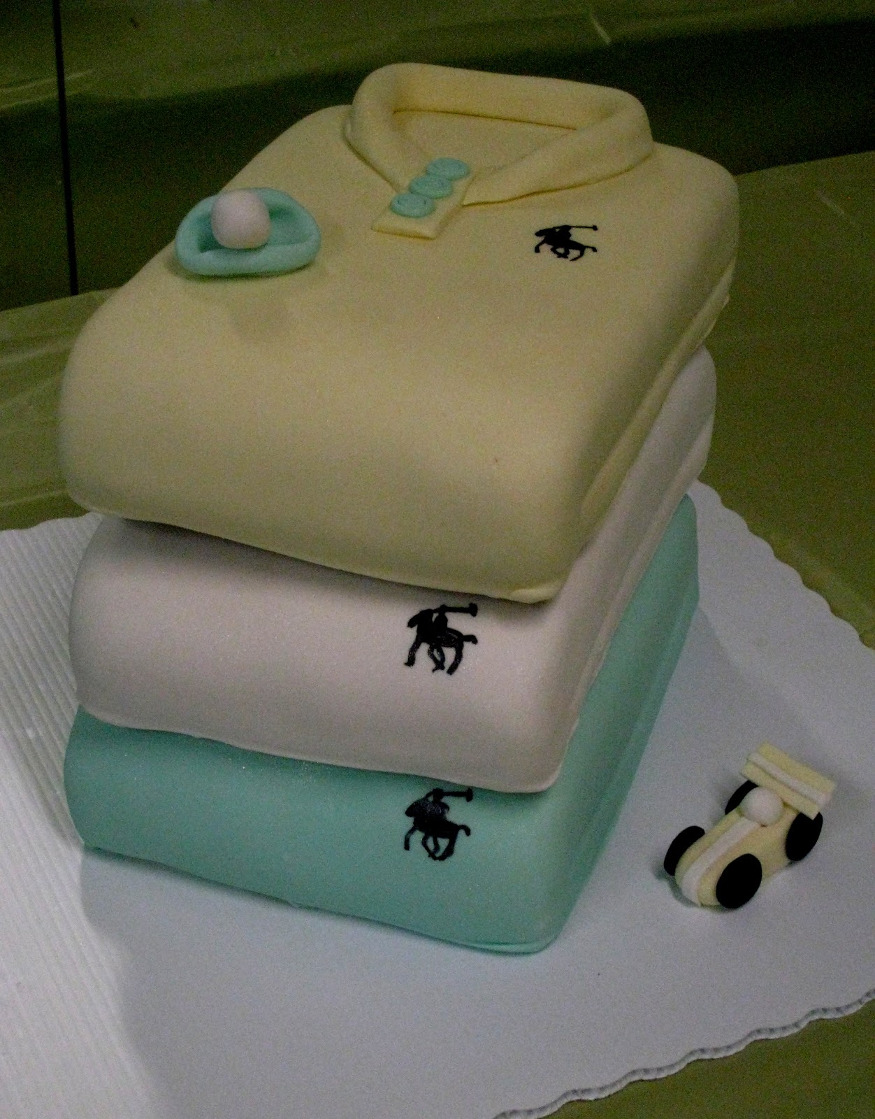Polo Baby Shower Cake