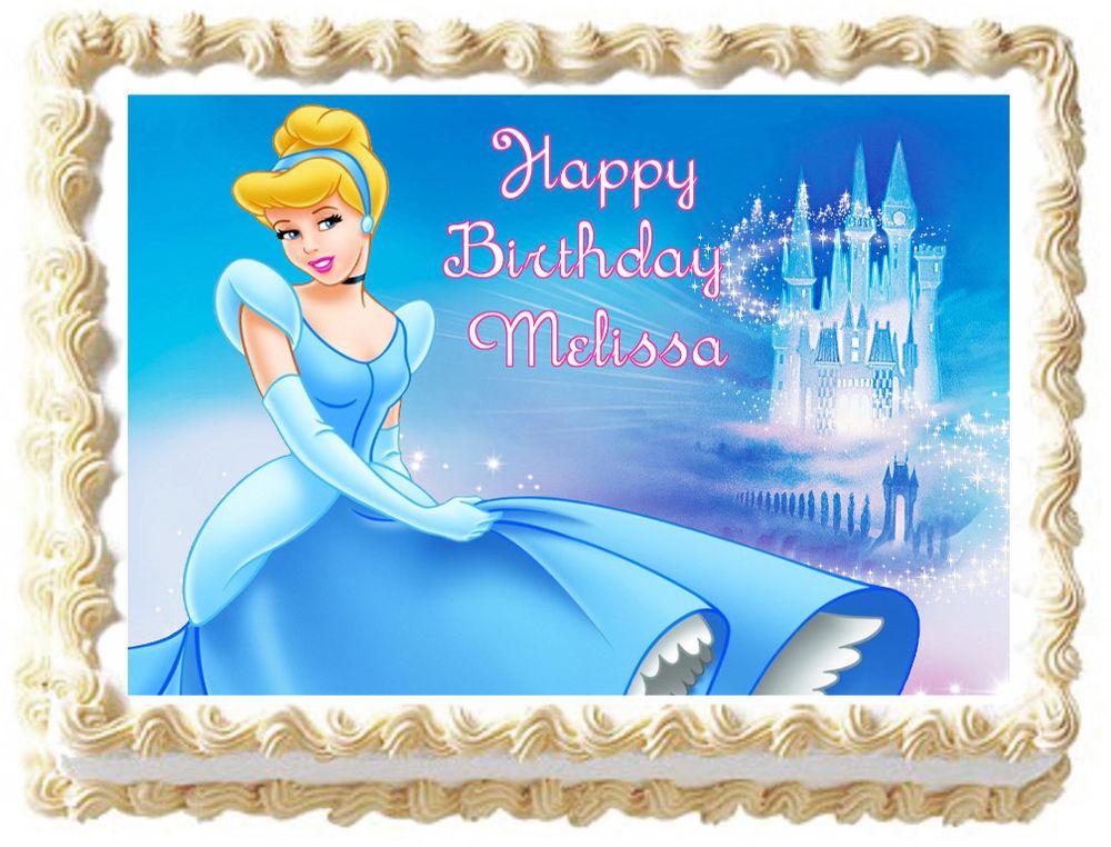 Princess Cinderella Edible Cake Topper