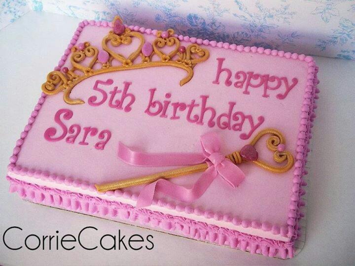 Princess Sheet Cake