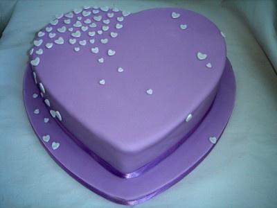 Purple Heart Birthday Cake