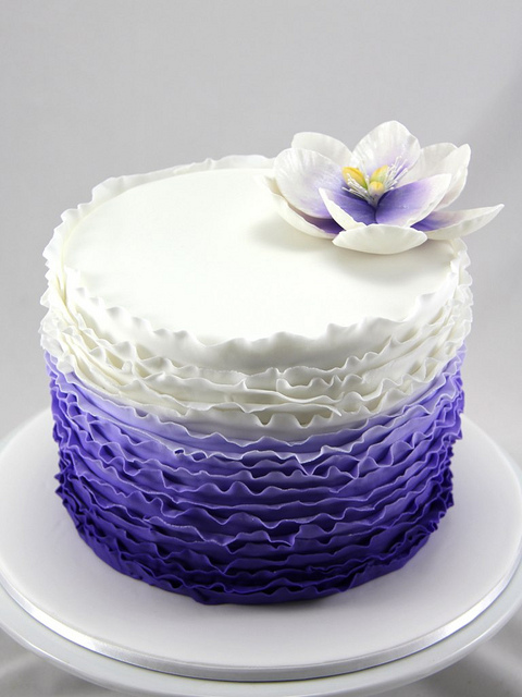 8 Photos of Blue Purple Ruffle Birthday Cakes