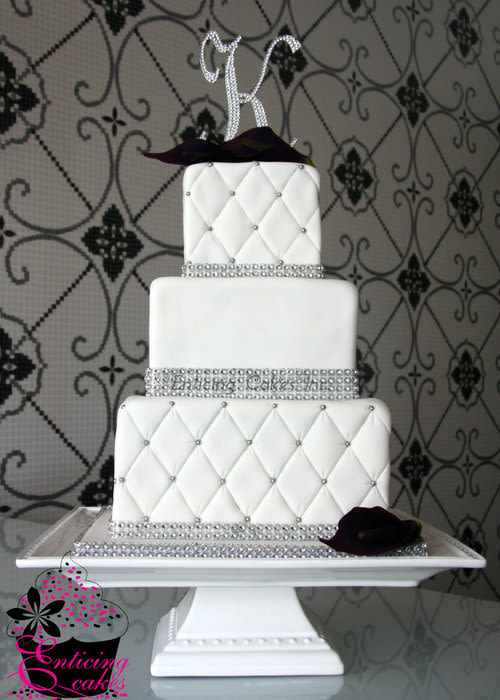 Quilted Wedding Cake Bling