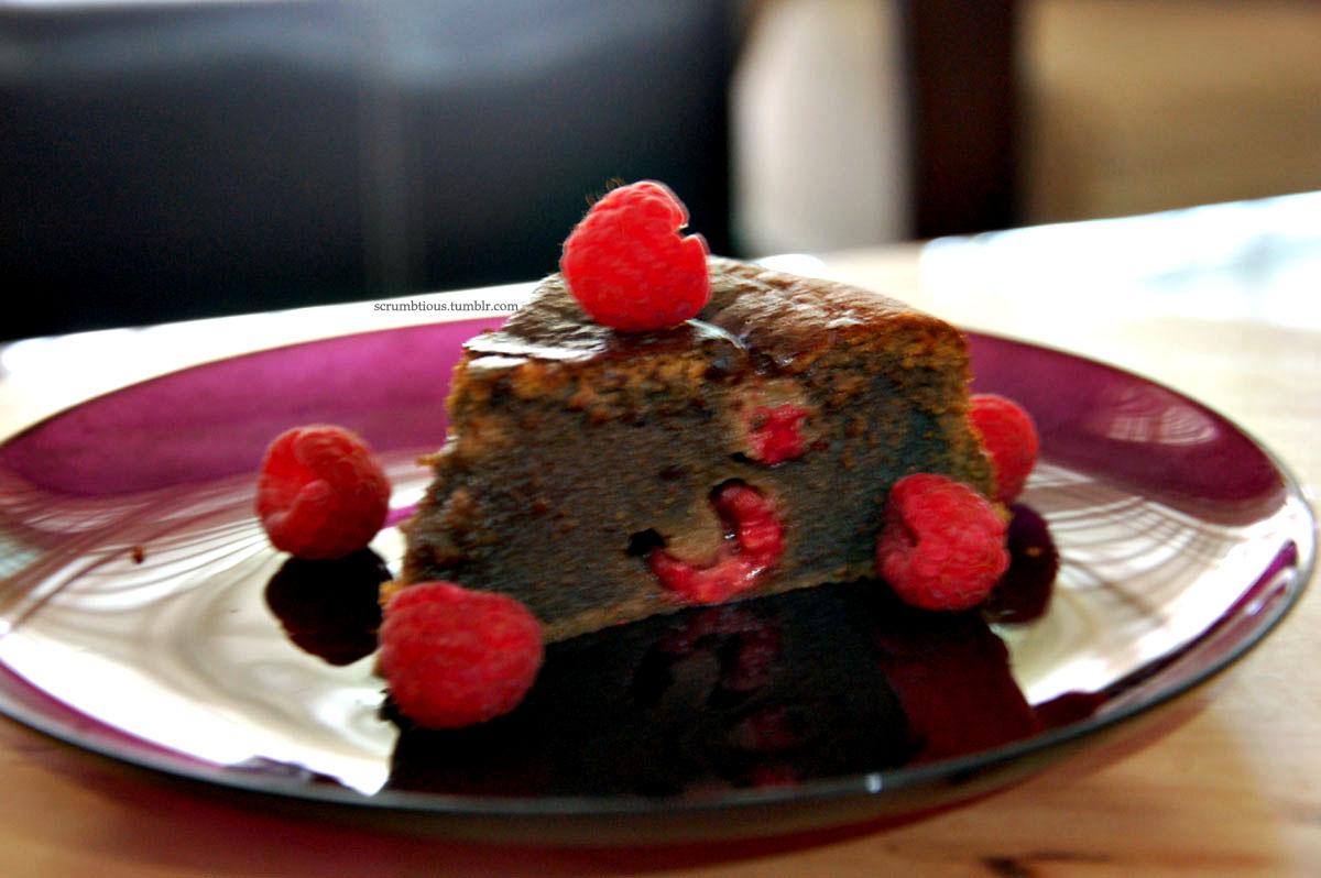 Raspberry Chocolate Cake Dessert