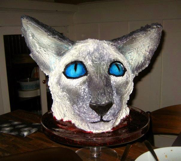 Siamese Cat Birthday Cake