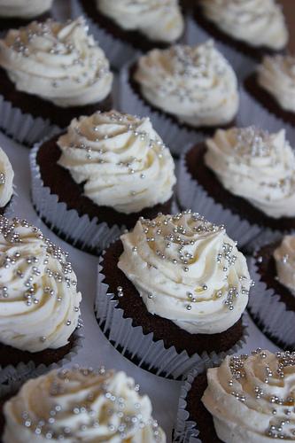 Silver Cupcake Wedding Cakes